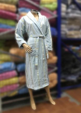 Натуральный женский халат grek ментоловый