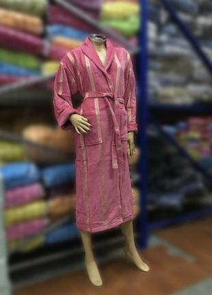 Натуральный женский халат grek пудра