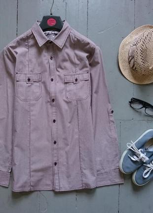 Стильная рубашка в мелкую полоску №102