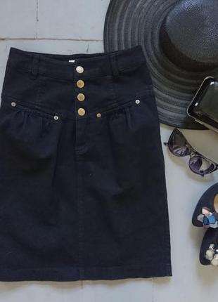 Актуальная джинсовая миди юбка карандаш высокая посадка №42