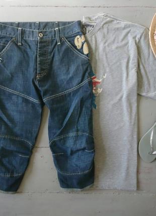 Темно-синие джинсовые шорты №195