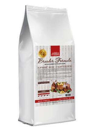 Home Food для взрослых собак с уткой и картофелем 10 кг.