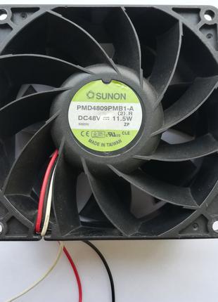 Кулер для майнинга или сервера 90X90 PMD4809PMB1-A DC 48V (Sunon)