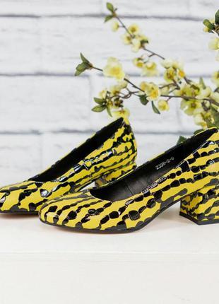 Новая коллекция туфли на среднем каблуке тренд 2020