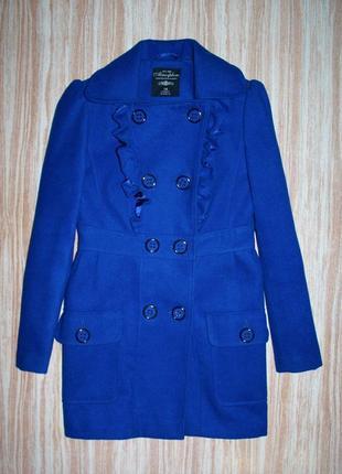 Милое яркое синее пальто №25 atmosphere
