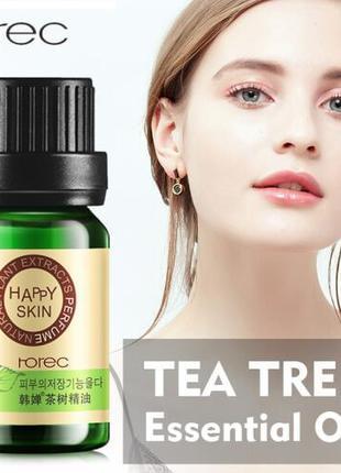 Эфирное масло с экстрактом чайного дерева лечение акне Rorec Tree