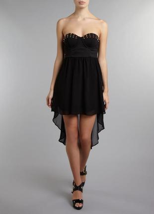 Стильное коктейльное платье со шлейфом №365  glamorous