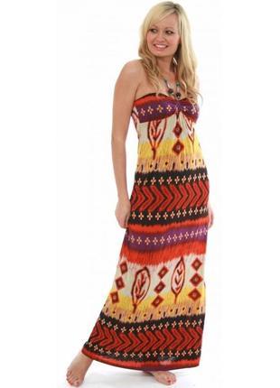 Стильное макси платье №319
