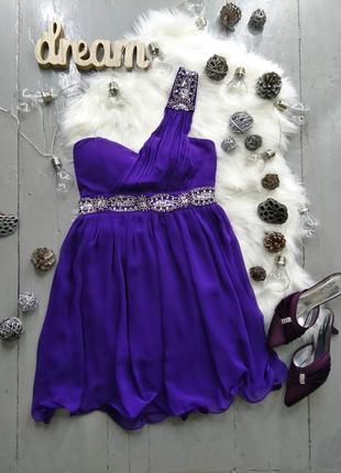 Нарядное вечернее фиолетовое платье №36