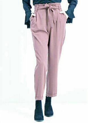 Лёгкие брюки брючки пудровые amisu