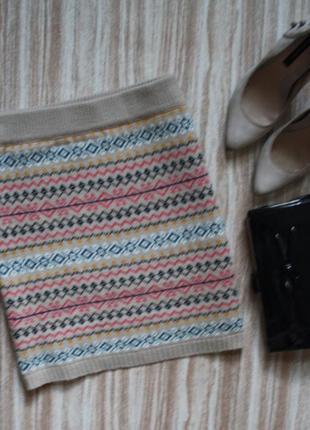 Стильная вязаная юбка №93