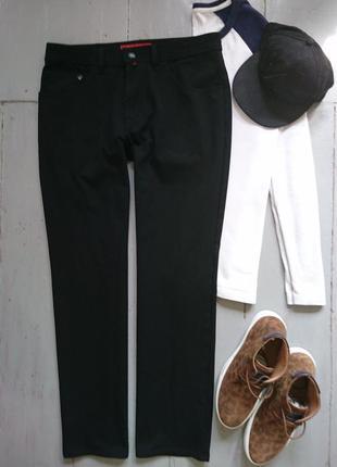 Фирменные черные джинсы прямого покроя №317 pierre cardin