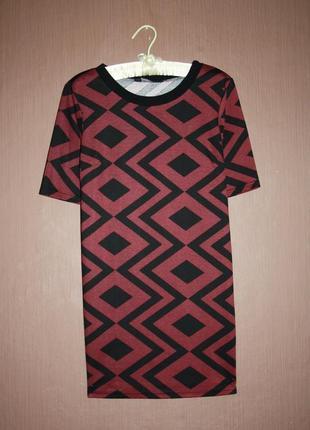 Актуальное платье прямого покроя в геометрический принт №9 dor...
