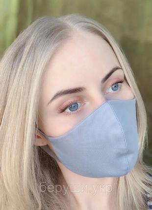 Маска защитная на лицо многоразовая (трикотаж) Silenta Grey
