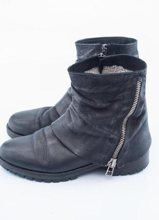 Sale 30%  зимние ботинки кожаные