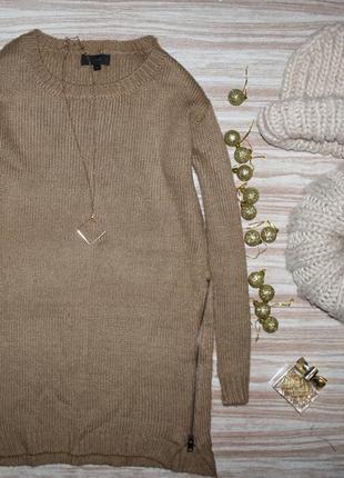 Актуальный длинный свитер с молниями №137