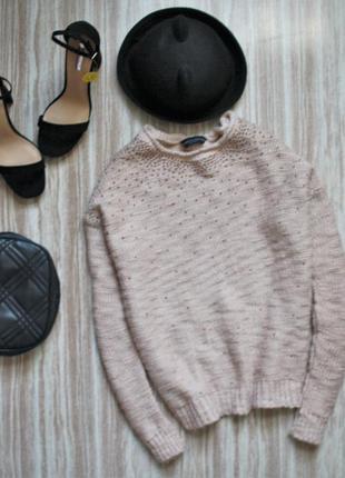 Нежный розовый свитер №113