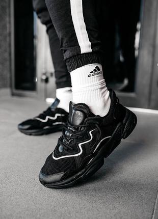 "Adidas ozweego ""black"" мужские  кроссовки"