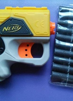 Игрушка миниатюрный бластер нерф от Hasbro nerf reflex + 10 пулек