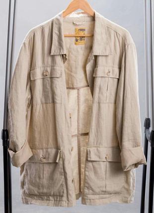 Льняная куртка с накладными карманами healey