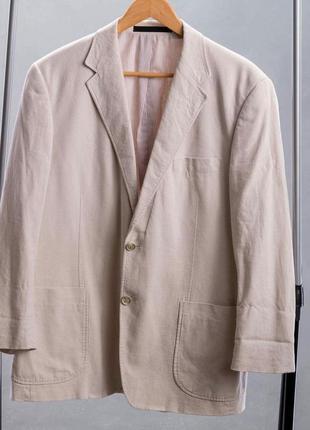Бежевый летний пиджак   marks& spenser.
