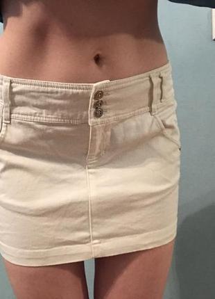 Молочна спідниця светлая молочная юбка