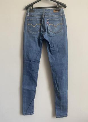 Levis джинсы синие левайс скинни skinny slim