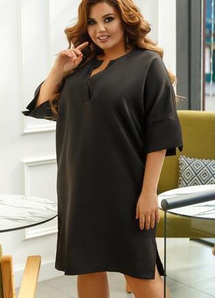 Шикарное весеннее платье свободного кроя большие размеры