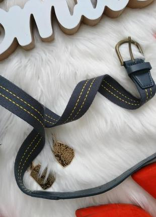 Красивый плотный ремешок с текстилем