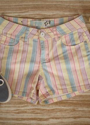 №228 джинсовые шорты в полоску
