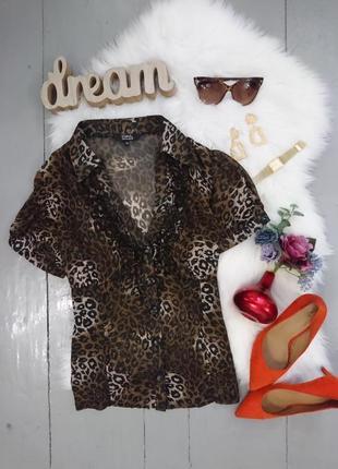 Актуальная леопардовая блузка №102