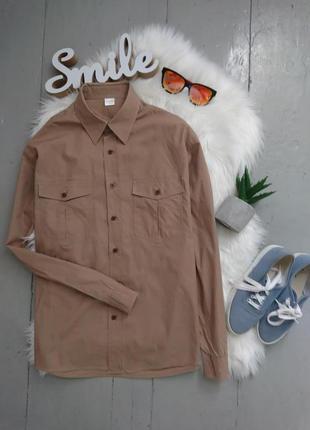 Базовая рубашка с длины рукавом №23