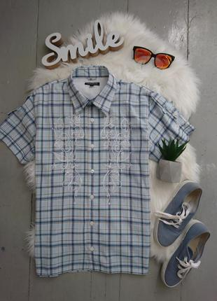 Актуальная летняя рубашка с коротким рукавом №27