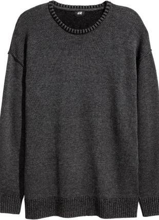 Шерстяной мужской свитер h&m
