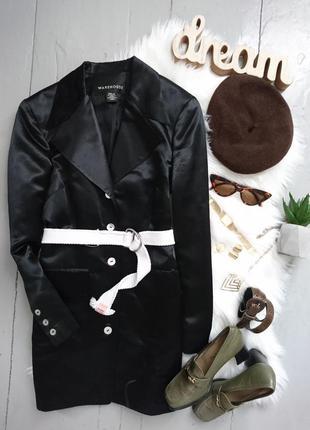 Актуальный удлиненный пиджак платье №2max
