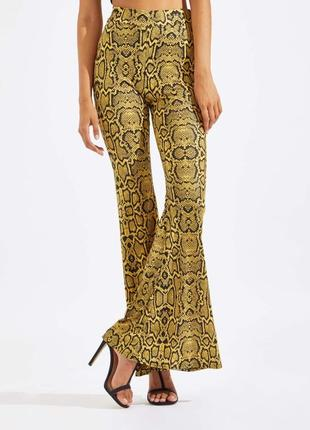 Актуальные расклешенные брюки лосины высокий рост №5max