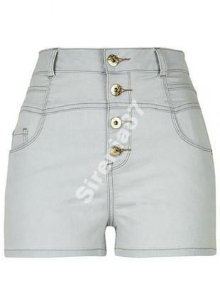 №292 стильные джинсовые шорты с высокой посадкой