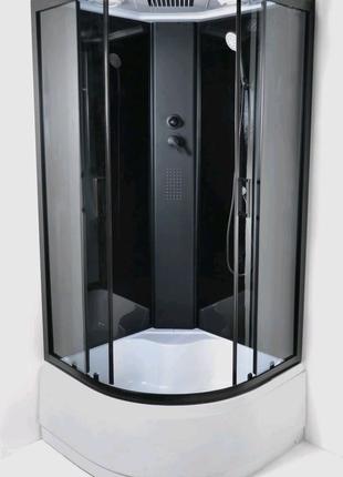 Гидробокс 95 Nero RC 90х90 глубокий поддон