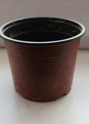 Пластиковый горшок для комнатных растений, цветов и рассады 10 см