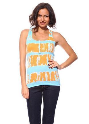 Майка status moda м оранжевая с голубым