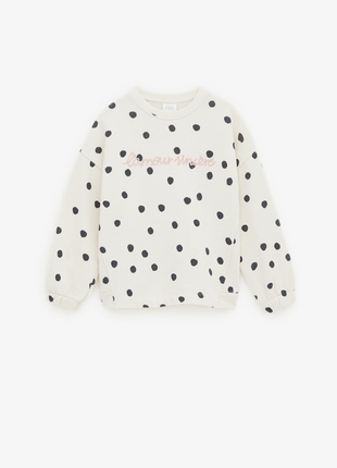 Свитер кофта белый пуловер zara baby джемпер реглан свитшот