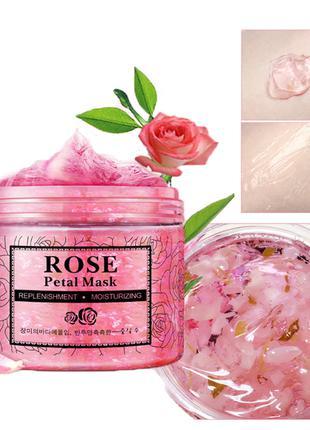 Питательная маска для лица с лепестками роз Rorec Rose Petal Mask