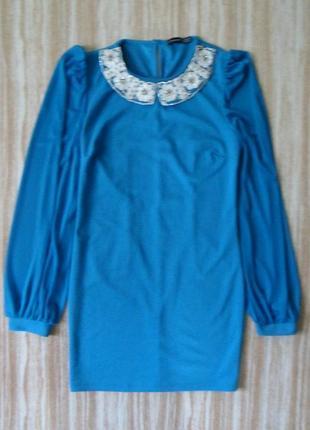 Нарядное мини платье с красивым воротничком №316