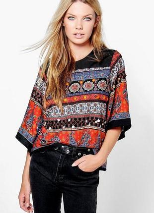 Актуальная блуза топ в стиле бохо №137