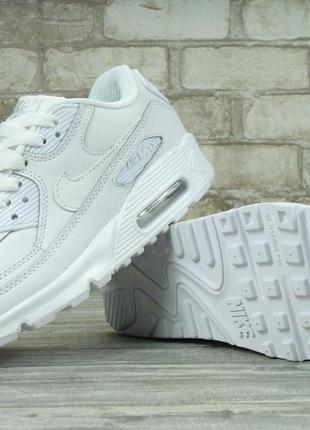 Кроссовки женские найк nike air max 90 essential all white.