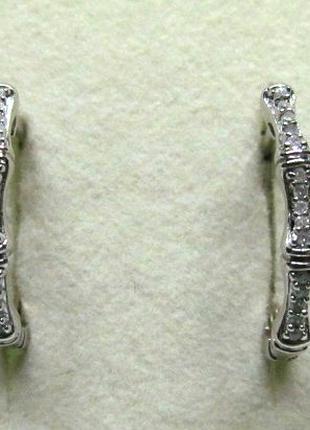 Серьги СЕРЕБРО 925 Натуральный бриллиант