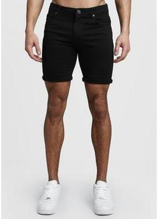 Стильные джинсовые шорты с подворотом №3max