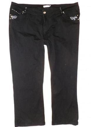 Стильные темные джинсы в стразах 56рр №135