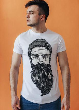 Футболка мужская бородач