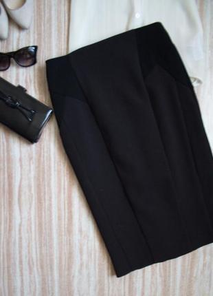 Стильная юбка карандаш со вставками №47